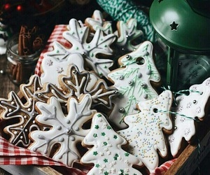 christmas, Cookies, and snow image