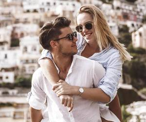couple, fashion, and happiness image