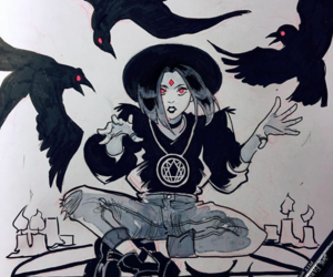 raven, teen titans, and rachel roth image