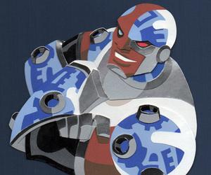 cyborg, fanart, and victor stone image