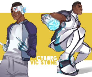 cyborg, teen titans, and dc comics image