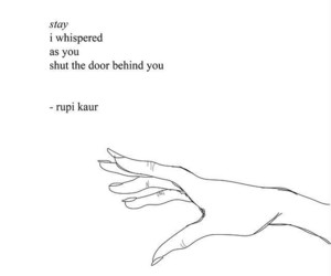 rupi kaur, poem, and quotes image