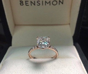 ring, diamond, and bensimon image