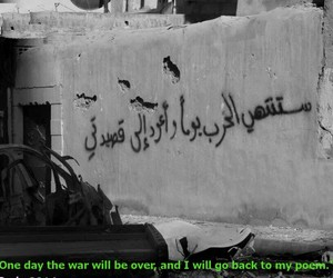 syria, war, and poem image