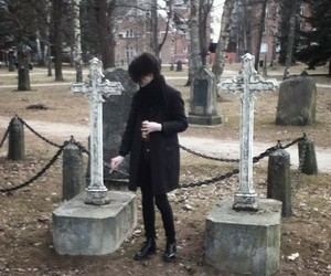 cemetery, goth, and gothic image
