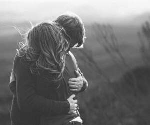 hug, couple, and love image