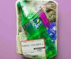 purple, weed, and sprite image