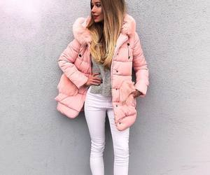 fall, pink, and winter fashion image