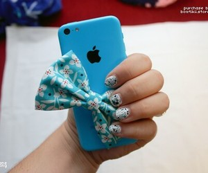 blue, iphone, and cute image