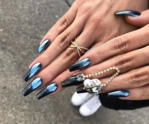black, glass, and nails image