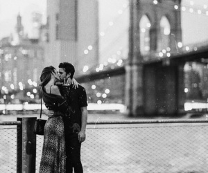 couple, new york, and love image