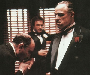The Godfather and black and white image