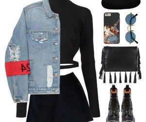 accessories, denim, and fall image