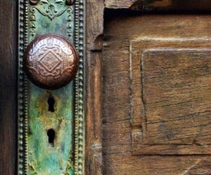 copper, turquoise, and wooden image