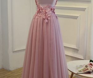 dress, pink, and prom dress image