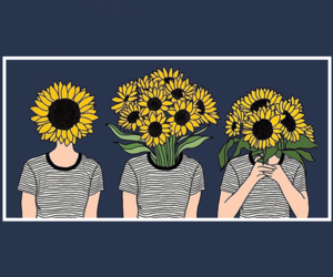 header, sunflower, and tumblr image