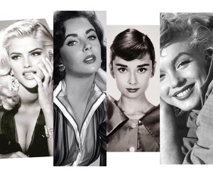 actresses, anna nicole smith, and audrey hepburn image
