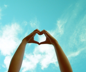 heart and sky image
