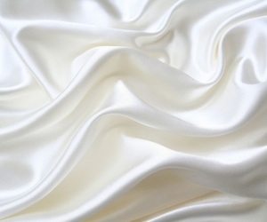 white, silk, and fabric image