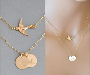 etsy, personalized, and layering necklace image