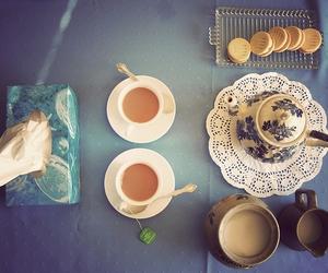 tea, teacup, and teapot image