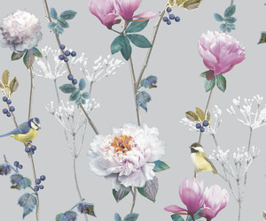 birds, flowers, and patterns image