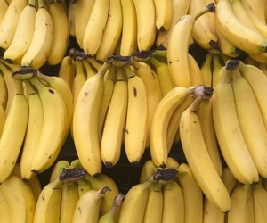 banana, fruit, and yellow image