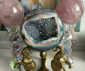 crystal, crystal ball, and crystals image
