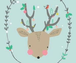christmas, deer, and wallpaper image