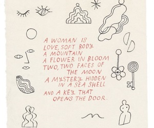 woman, love, and poem image