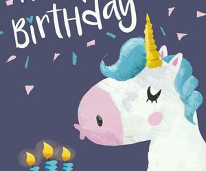 birthday and unicornio image