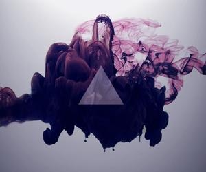 triangle, purple, and smoke image