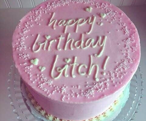 cake, pink, and bitch image