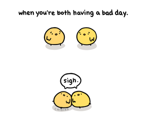 bad day, friendship, and chibird image