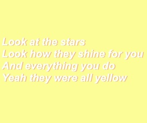 aesthetic, coldplay, and Lyrics image