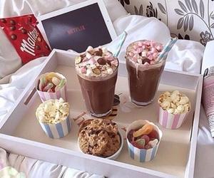 food, netflix, and chocolate image