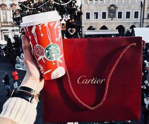 cartier, christmas, and coffee image