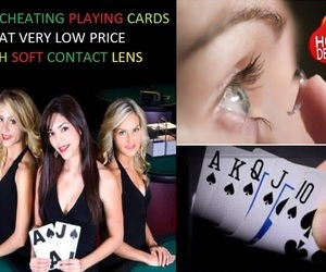 playing cards games and soft contact lenses image