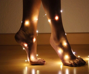 gold, light, and feet image