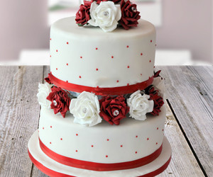 cakes, flower, and flowers image