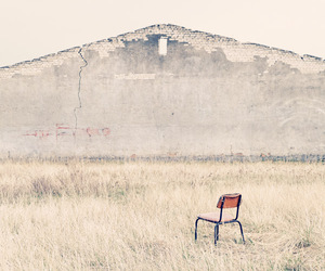 building, chair, and ruin image