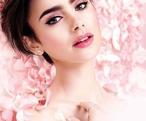 lily collins and model image