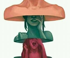 sad and woman image