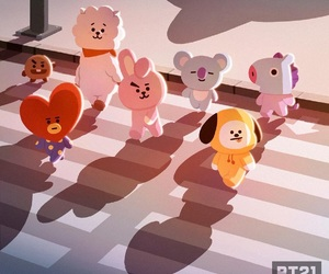bts, bt21, and van image