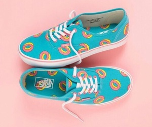vans, blue, and donut image