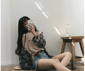 aesthetic, asian girl, and ootd image