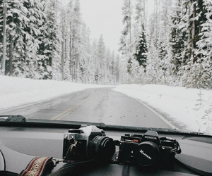 aesthetic, road, and winter image