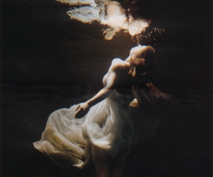 water, dress, and underwater image