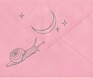 pink, stars, and moon image