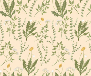 flower pattern, harry potter, and herbs image